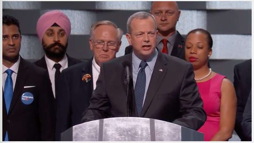 Retired 4-star General John Allen addresses the DemConvention