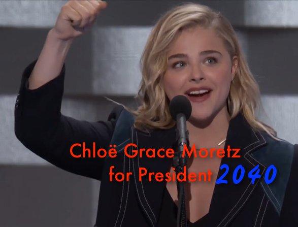 Chloe Grace Moretz for President 2040! @ChloeGMoretz #DemsinPhilly https://t.co/TnJVgFAz7S https://t.co/hhZc0MZcFf