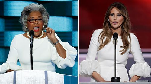 Who wore it better? Rep. Beatty's dress looks awfully similar to Melania Trump's RNC dress
