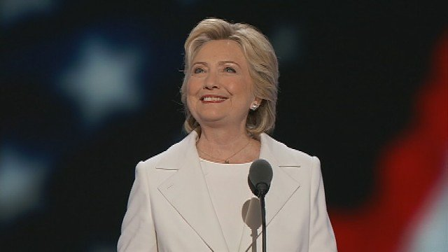 Hillary Clinton accepts nomination for president with 'determination and boundless confidence in America's promise.'