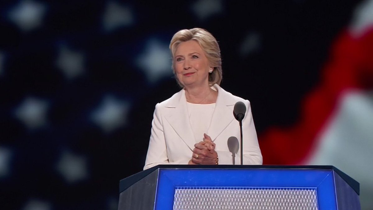 Hillary Clinton formally accepts Democratic nomination for president