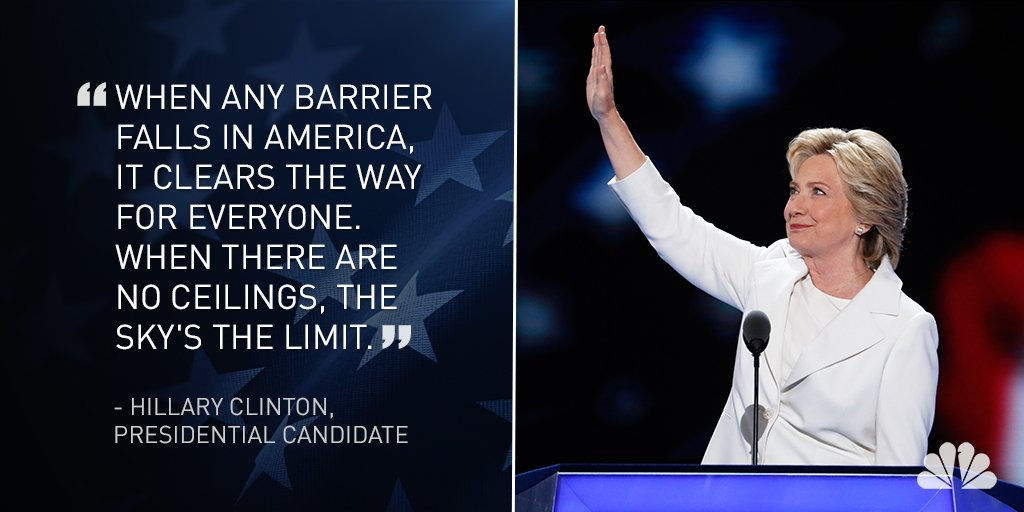 Hillary Clinton accepts Democratic nomination, becoming 1st woman to lead major party ticket