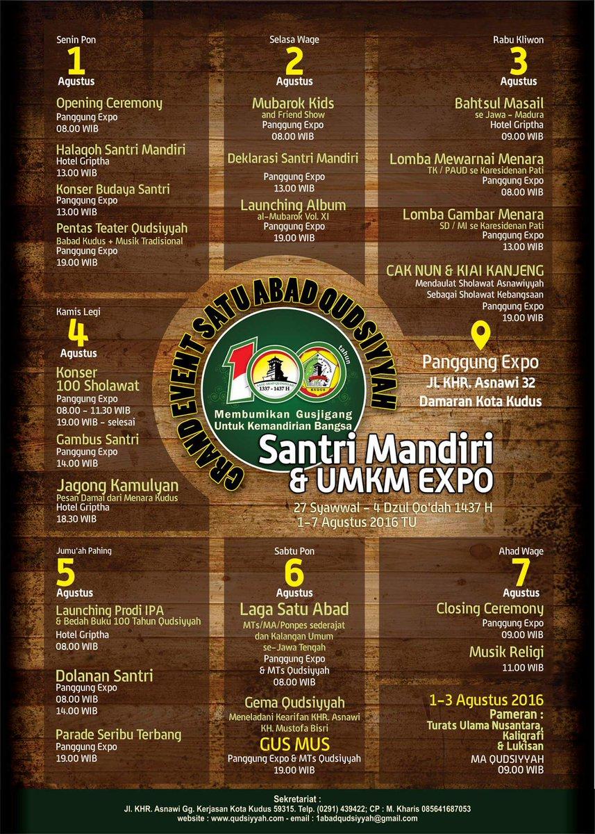 "Garda Santri on Twitter ""Seribu pagelaran grand event satu abad qudsiyyah kauman menara Kudus Jawa tengah akoeanas… """