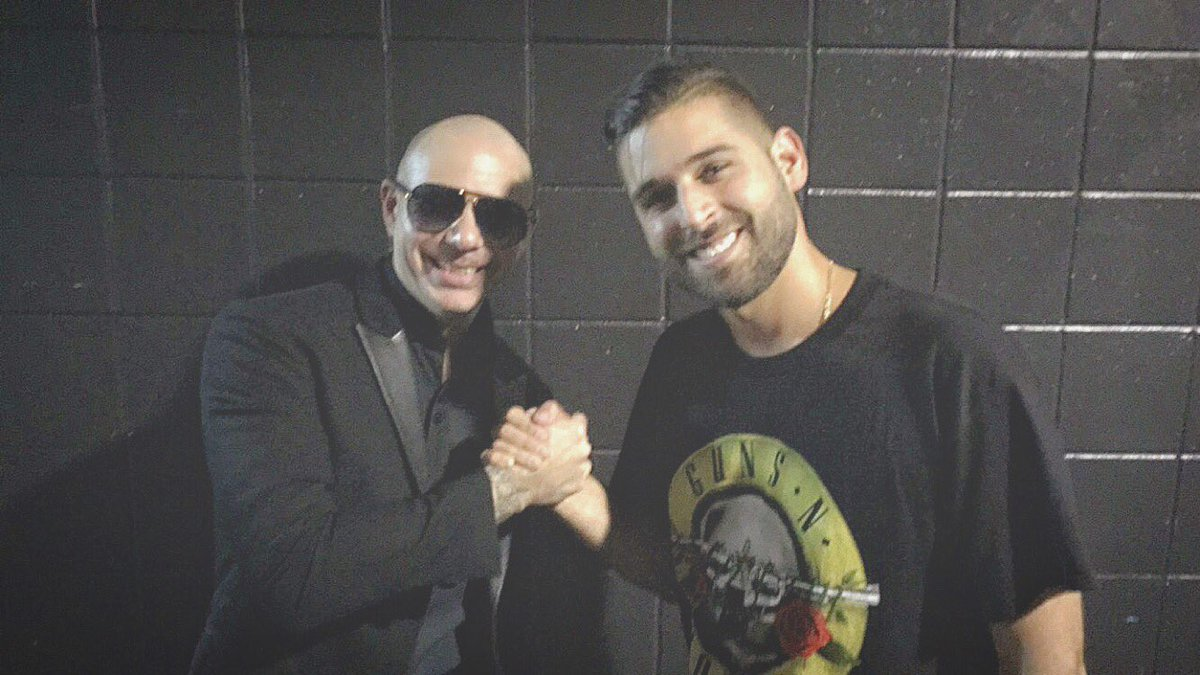 Dale! Thank you @pitbull for letting me DJ on the #TheBadManTour https://t.co/NtQTeVjzQ4