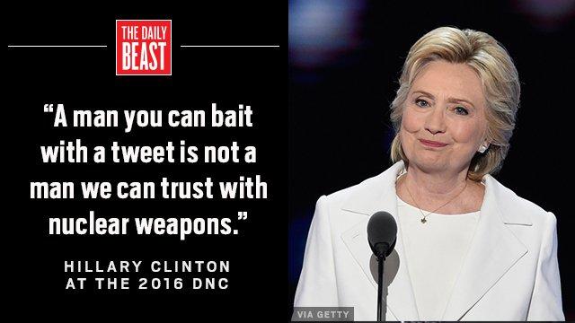 Hey @realdonaldtrump. Tweet away. xx @HillaryClinton. #DemsinPhilly #shade