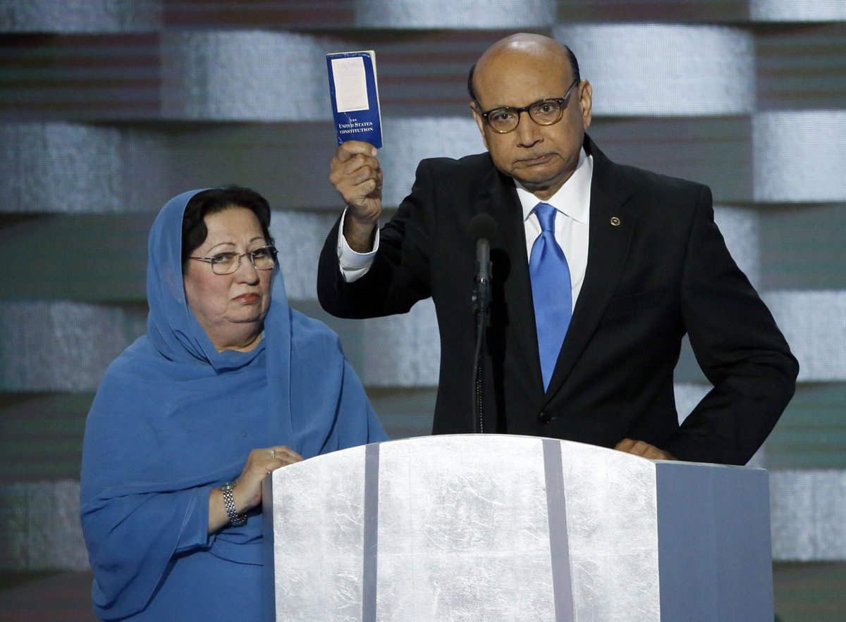 Father of Muslim soldier killed in Iraq tells Trump,