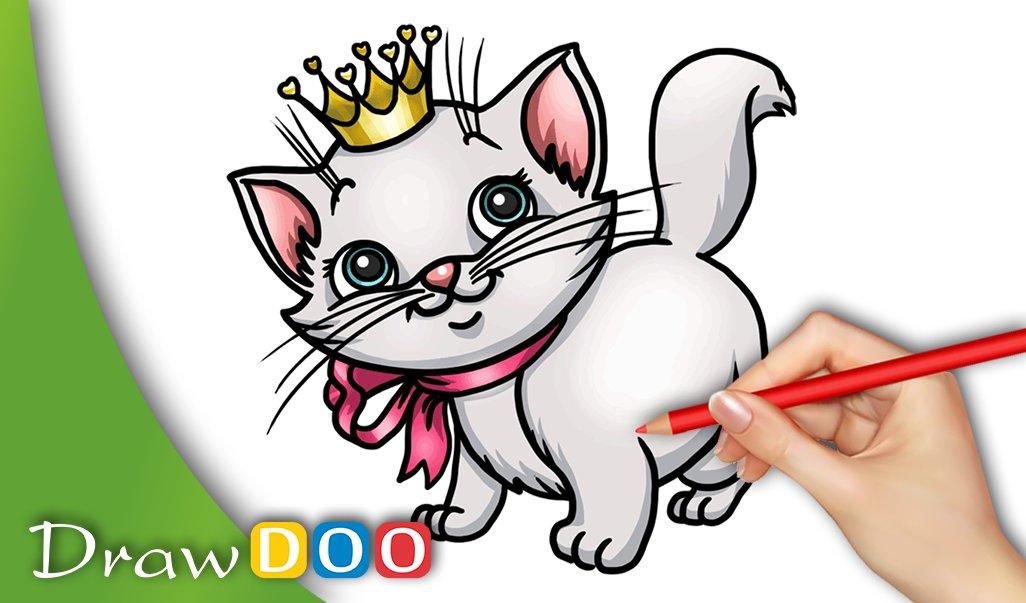 Drawdoo How To Draw On Twitter Cat Kitten Kitty Cute Drawing