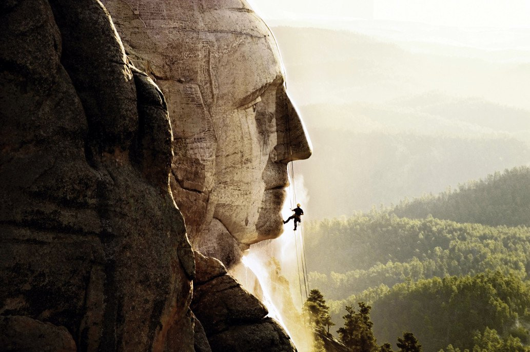 A facial looks good on Mount Rushmore