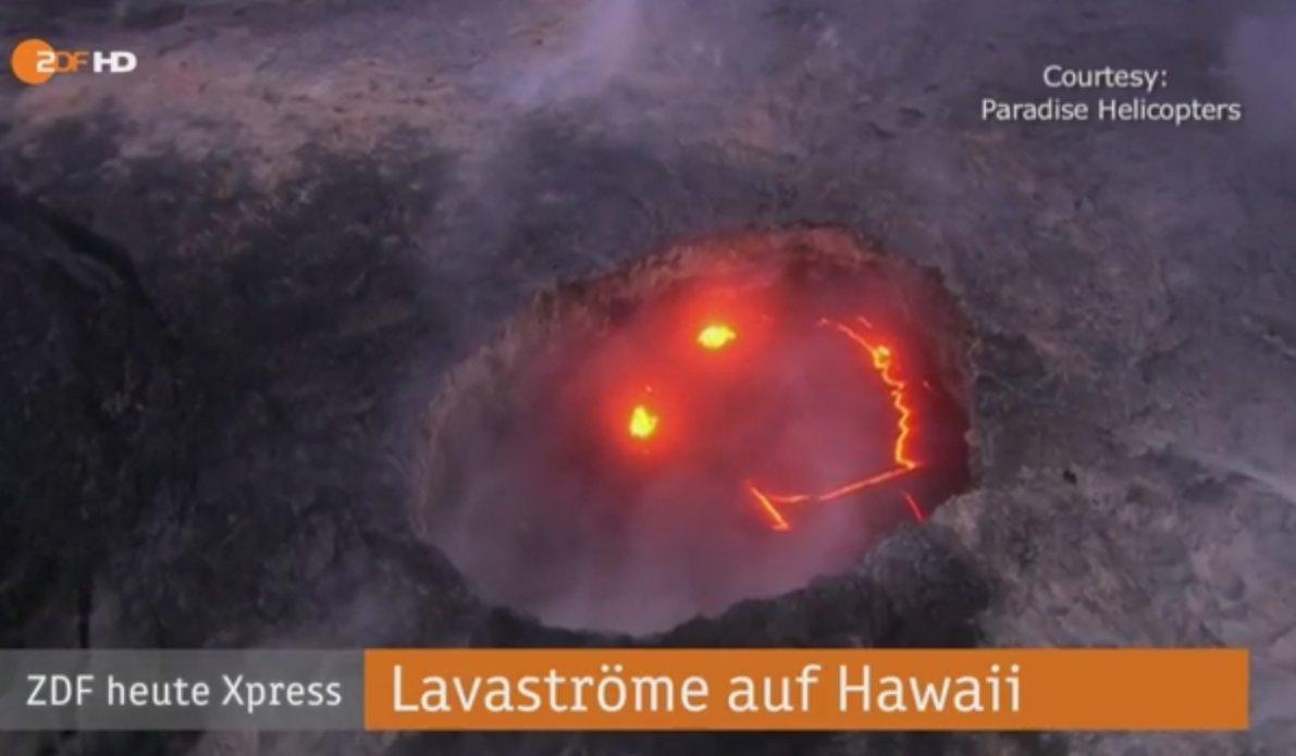 Just keep smiling: @ZDFheute präsentiert den ersten dokumentierten Lava-Smiley #Hawaii