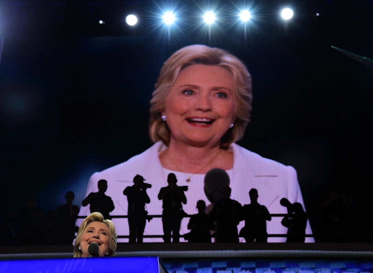 In a historic moment Thursday night, Hillary Clinton accepted the Democratic nomination