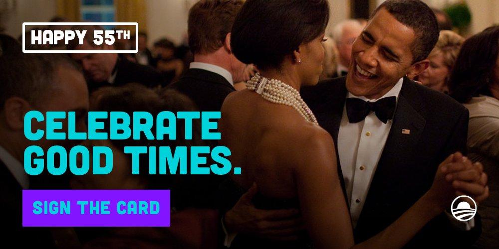 Barack Obama On Twitter Help President Obama Celebrate His 55th