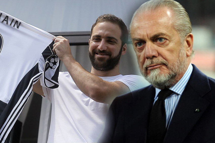 Vedere Juventus-South China mentre De Laurentiis risponde a Higuain