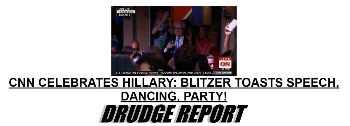 "Another reminder American media is dead. Video: CNN's top ""analysts"" drink & dance w/ DNC https://t.co/ADrAZKgBKg https://t.co/e7ljHWKQWy"