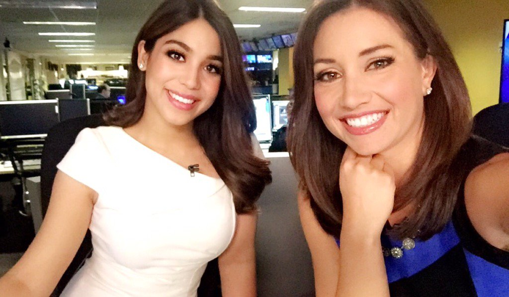 Happy to be sharing the desk with @JessicaABC7 this AM! Did you know we went to the same school? FightOn abc7now