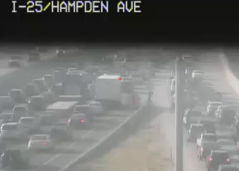 It is over an hour delay on SB 25 to the DTC due to this crash still in the left lanes after Hampden.