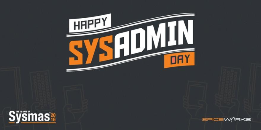 Happy #SysAdminDay! Don't forget to give #ITpros some love with coffee, beer or a hug! https://t.co/a2vLqyxzL6 https://t.co/BBo1JXMk3q