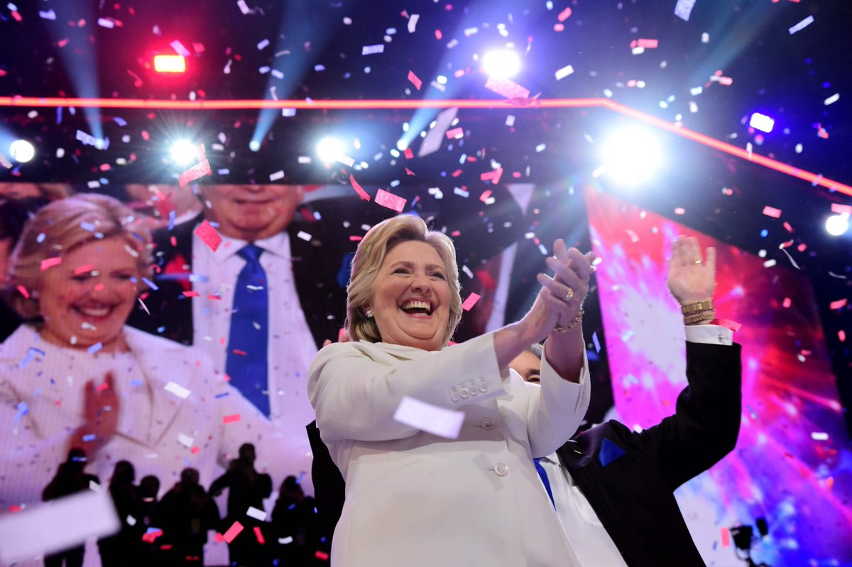 Hillary Clinton finally got her chance to speak at the DNCinPHL Thursday night