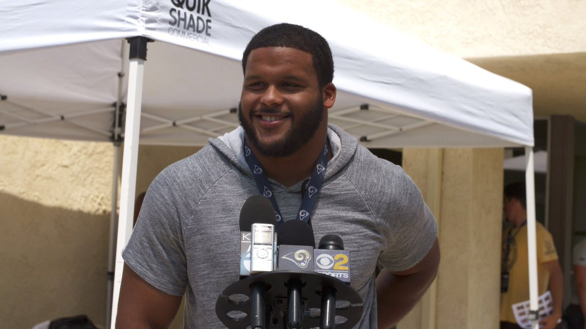 "Los Angeles Rams on Twitter ""Aaron Donald said he s entering camp"