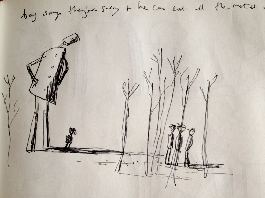 Story-boarding #TheIronMan for my new #theatre show @Unicorn_Theatre #puppets #animation #london #tedhughes https://t.co/0UUXqT1hSV