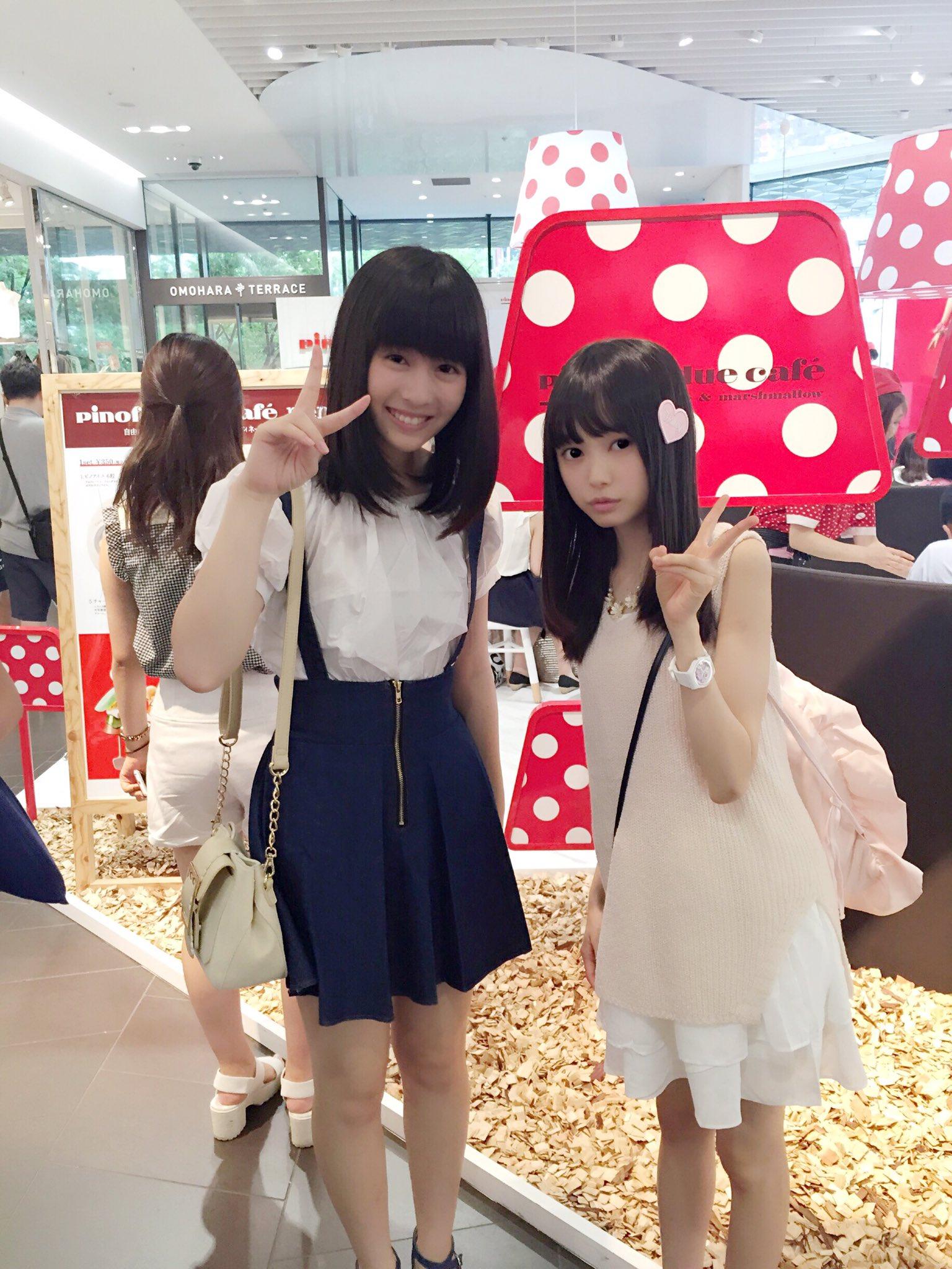 "AKB48 樋渡 結依 on Twitter: ""昨日 子役友達の三好杏依ちゃんとピノカフェに行きました ..."