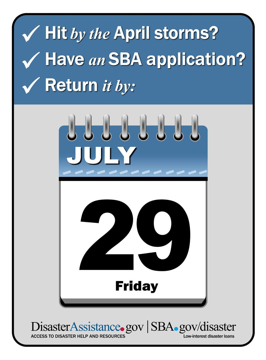 If you were affected by flooding April 17-30, today is the last day to register for FEMA & SBA assistance! hounews