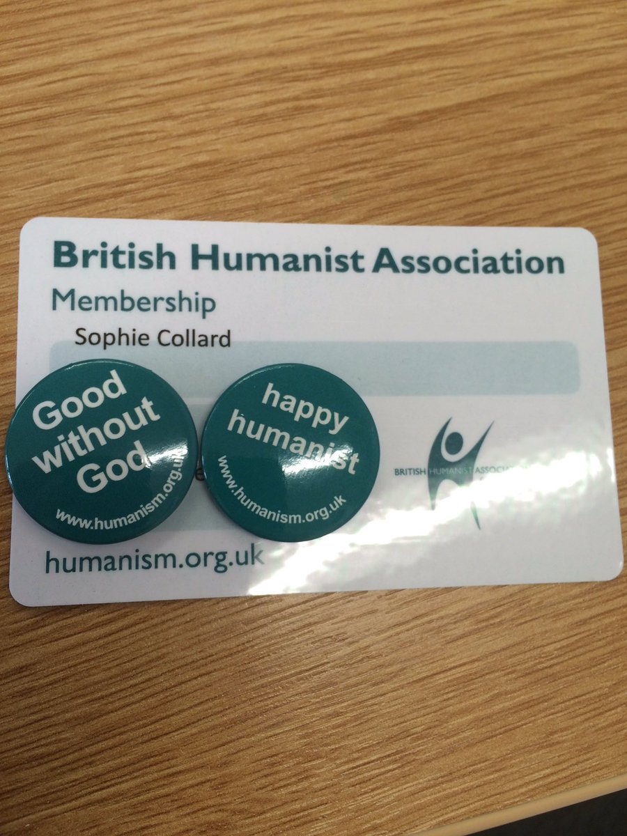 The @BHAhumanists send you badges and a small booklet about Humanism when you join. Lookit! https://t.co/lP8SSDAwzt