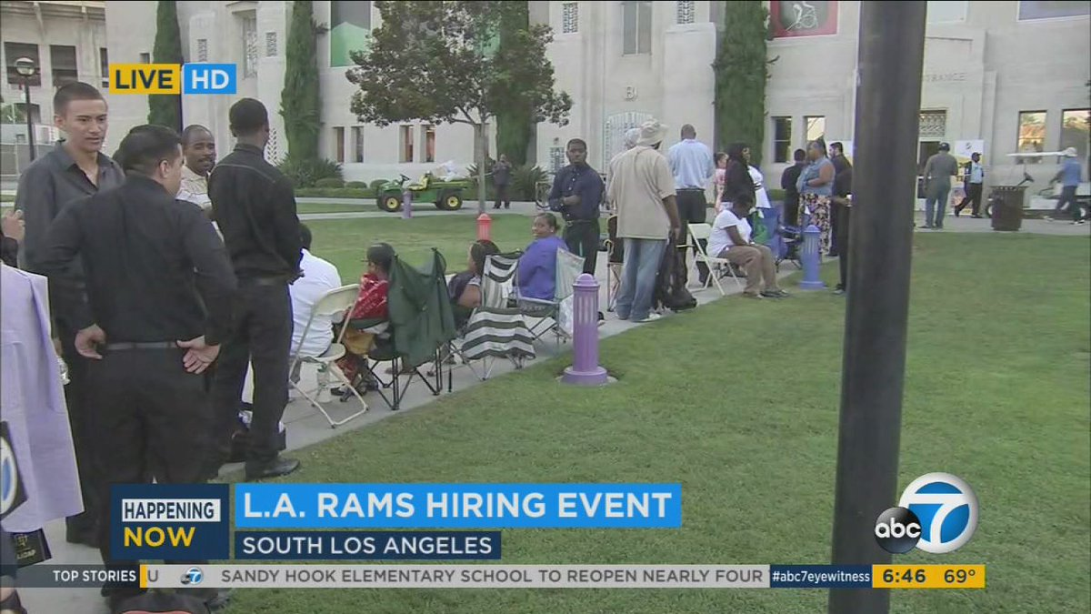 Hundreds in line at job fair for chance to work with LA Rams