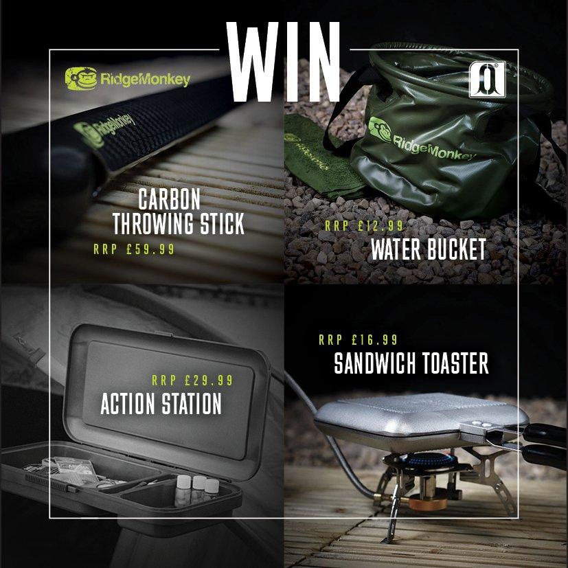 Win £120 worth of RidgeMonkey products! Follow @RidgeMonkey & @carpology then RT. Winner announced Monday 8th #Win https://t.co/7MGH6FPiMU