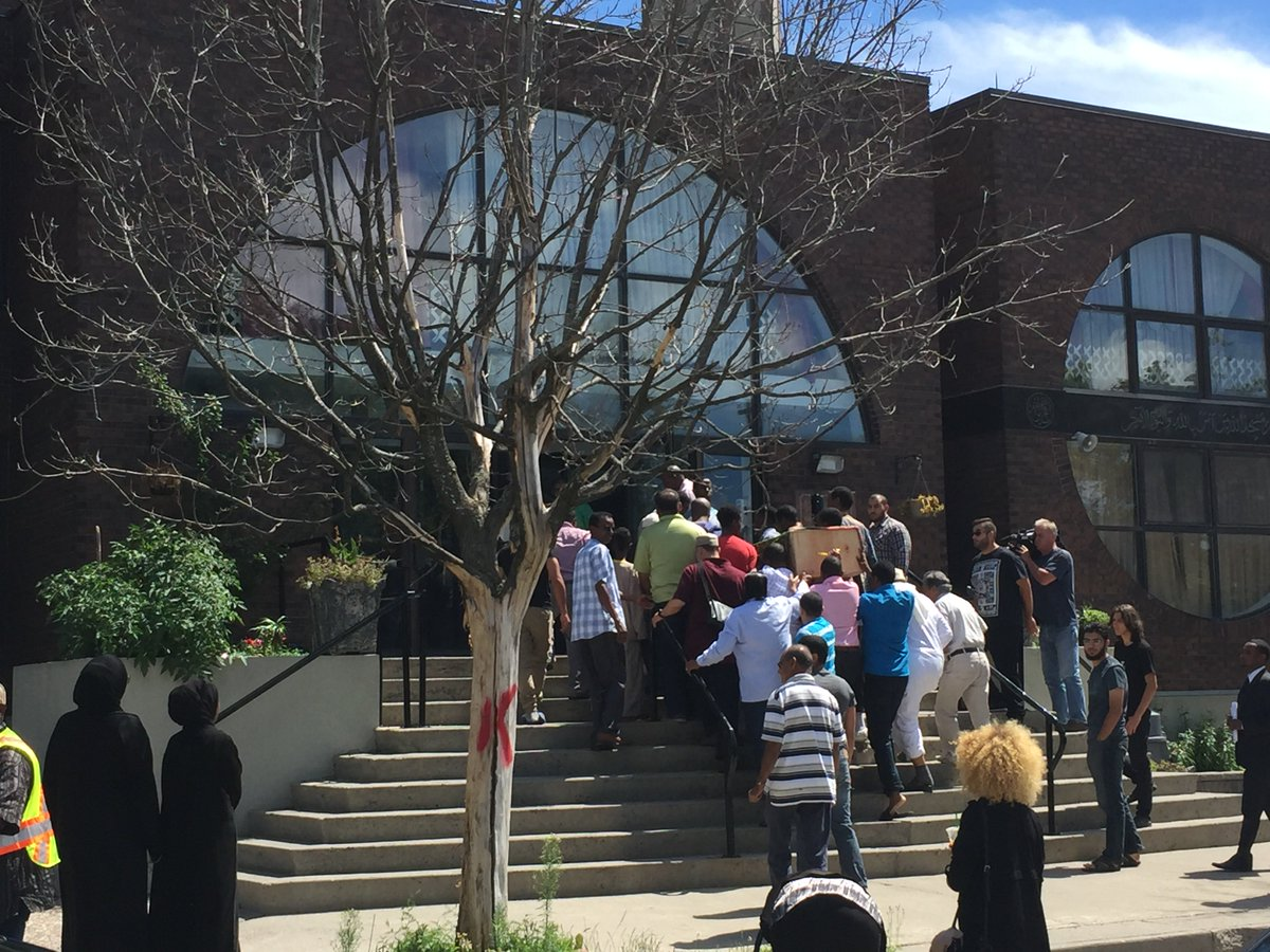 The funeral for Abdirahman Abdi has started. ottnews