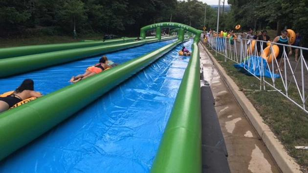 AWESOME! A 900-foot slip 'n' slide is coming to Chicago this weekend...DETAILS