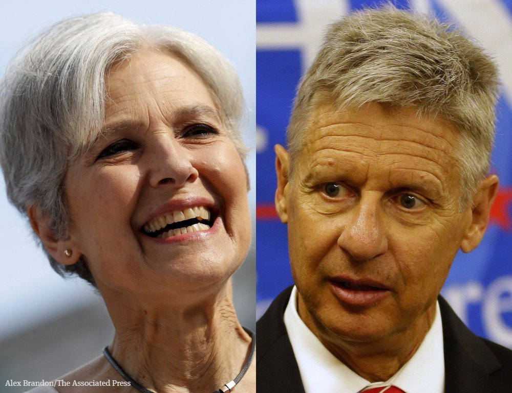 Thinking of voting for @DrJillStein or @GovGaryJohnson? Here are their policy positions