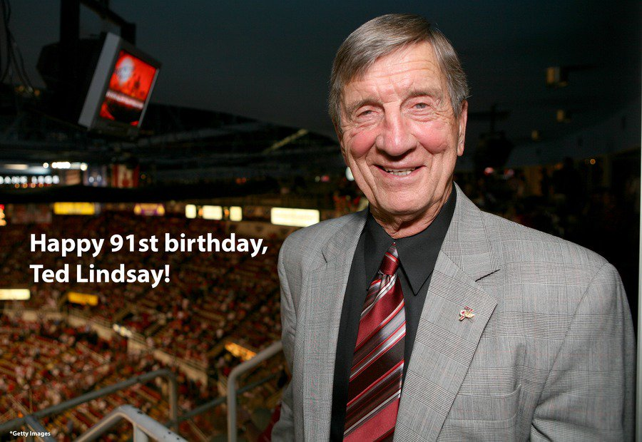 Happy 91st birthday to @DetroitRedWings legend Ted Lindsay!