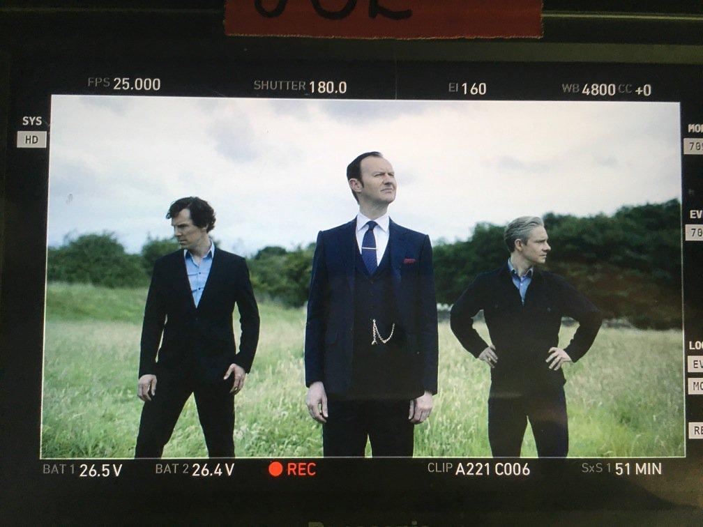 End of penultimate week of #Sherlock shoot. Luckily our Europop album 'Sauerkraut' is out soon! https://t.co/MXsIKbVJSp