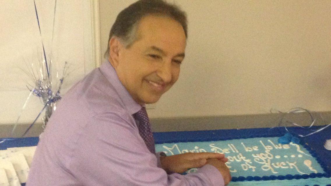 Retirement day for KHOU meteorologist @MarioGomezKHOU . Expert weather forecaster. Best wishes, Mario!