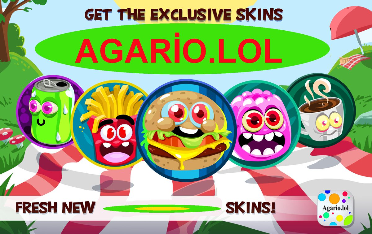 """Agario Lol agario lol on twitter: """"get the exclusive skins! happy games… """""""