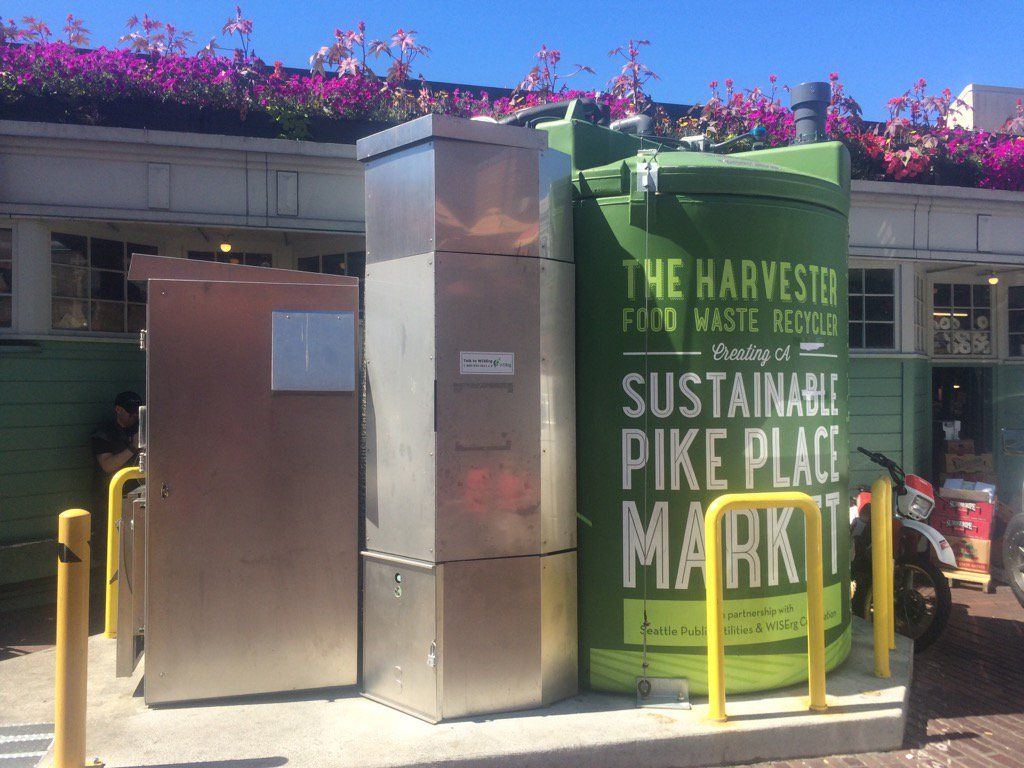 Seattle's Pike Place food digester being shut down over how it smelled. Market vows to try again.
