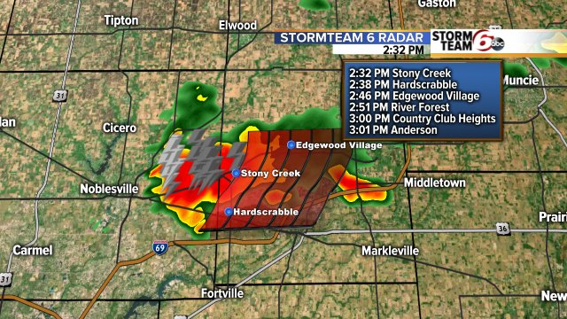 Strong storm west of Anderson with half inch hail & 40 mph gust potential. Heavy rain also an issue. @rtv6