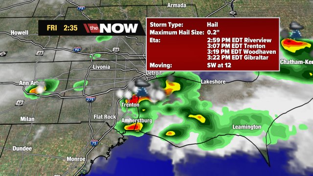 Strong storm moving into eastern Wayne Co. Watch for heavy downpours. Here's a track
