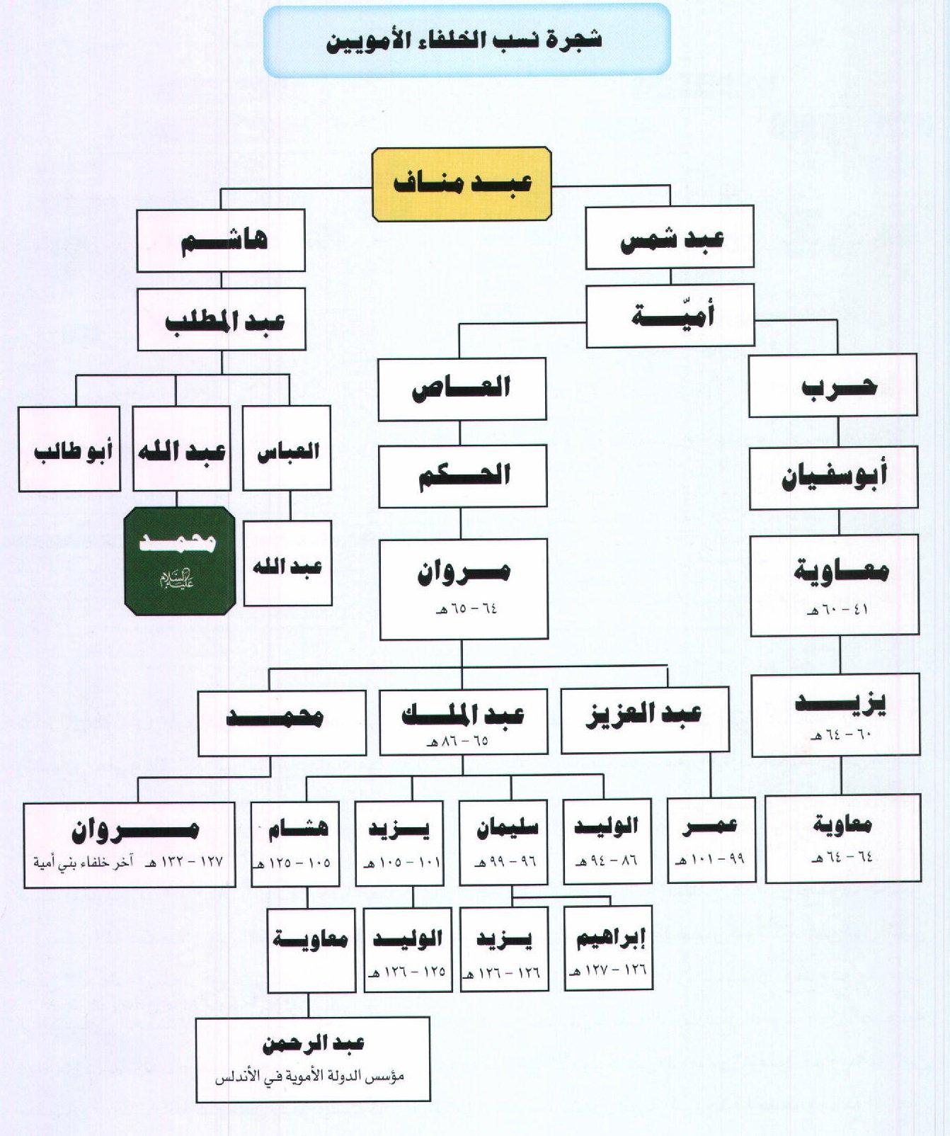 محمد بن إسماعيل On Twitter شجرة نسب الخلفاء الأمويين من أطلس تاريخ الدولة الأموية لسامي المغلوث