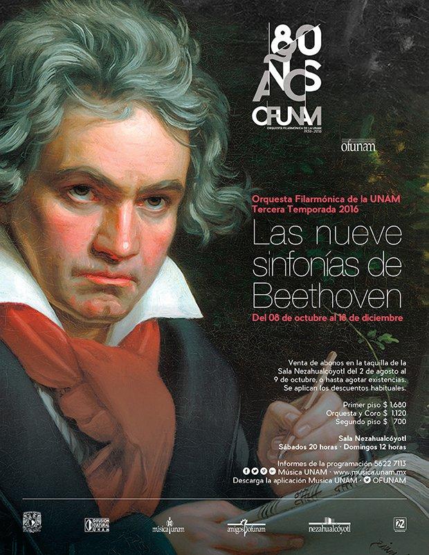La Tercera Temporada de la @OFUNAM presentará las nueve sinfonías de Beethoven. ¿Ya están listos para escucharlas? https://t.co/JwEnHF7Qyk