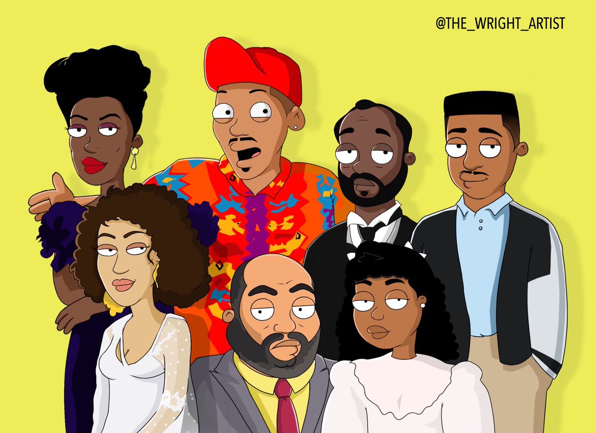 The Fresh Prince cast in a Family guy st...