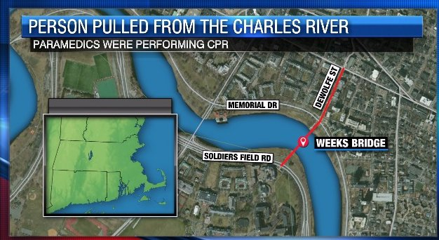 Person rushed to hospital after being pulled from the Charles River in Cambridge
