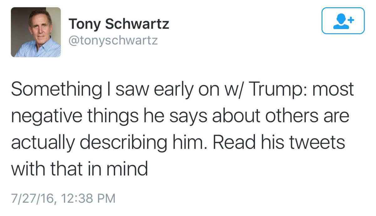 Former Trump ghostwriter on Wednesday; Trump today https://t.co/pGcVEkiPXa