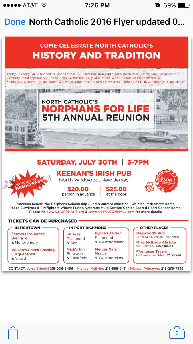 Yo Falcons...join me tomorrow at Keenan's along with Eddie Alvarez at Annual Norphans Scholarship Fundraiser!!