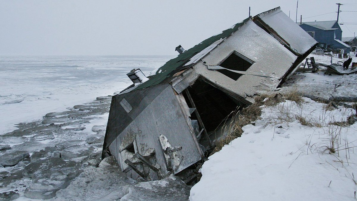 A small village in Alaska is literally falling into the ocean.