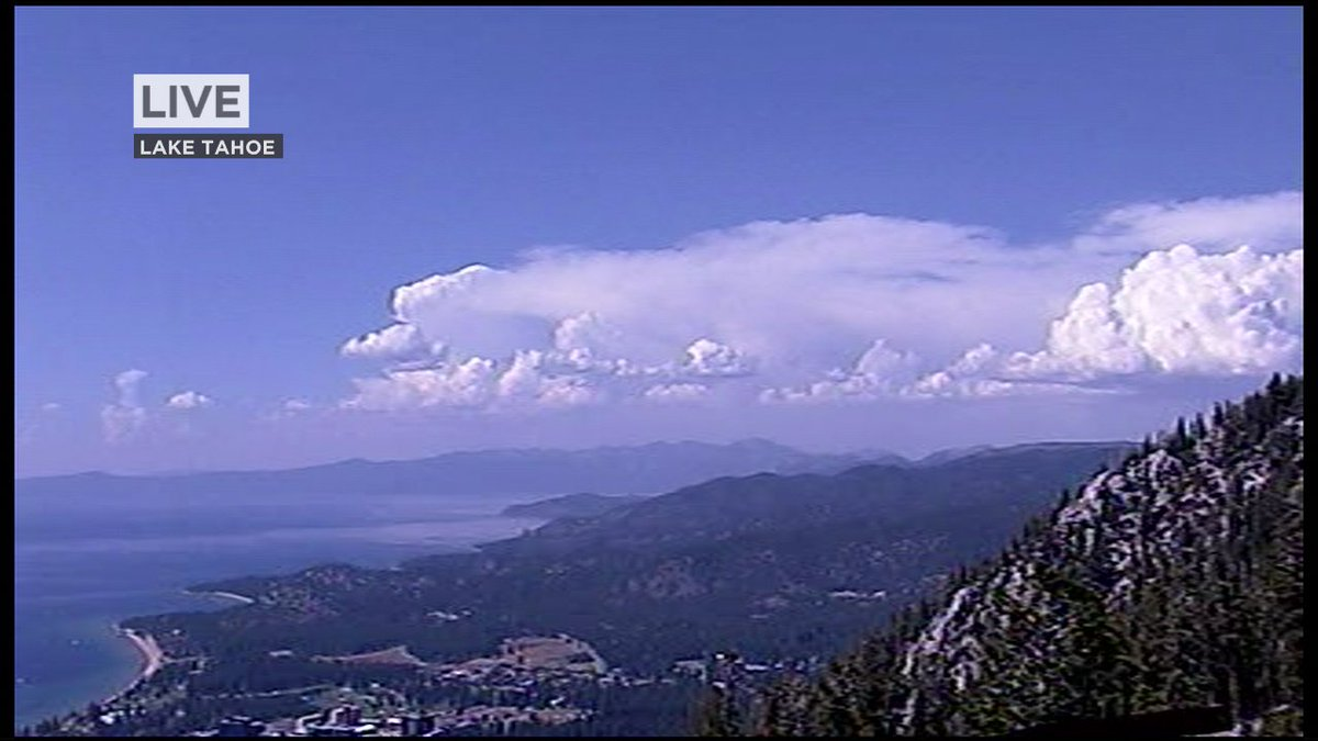 Seeing some cumulus over Lake Tahoe now. @LiveDoppler7HD tracking showers & thunder in Sierra if you're going up.