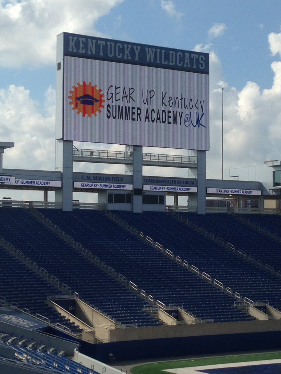 GUK Summer Academy logo on Jumbotron at Commonwealth Stadium