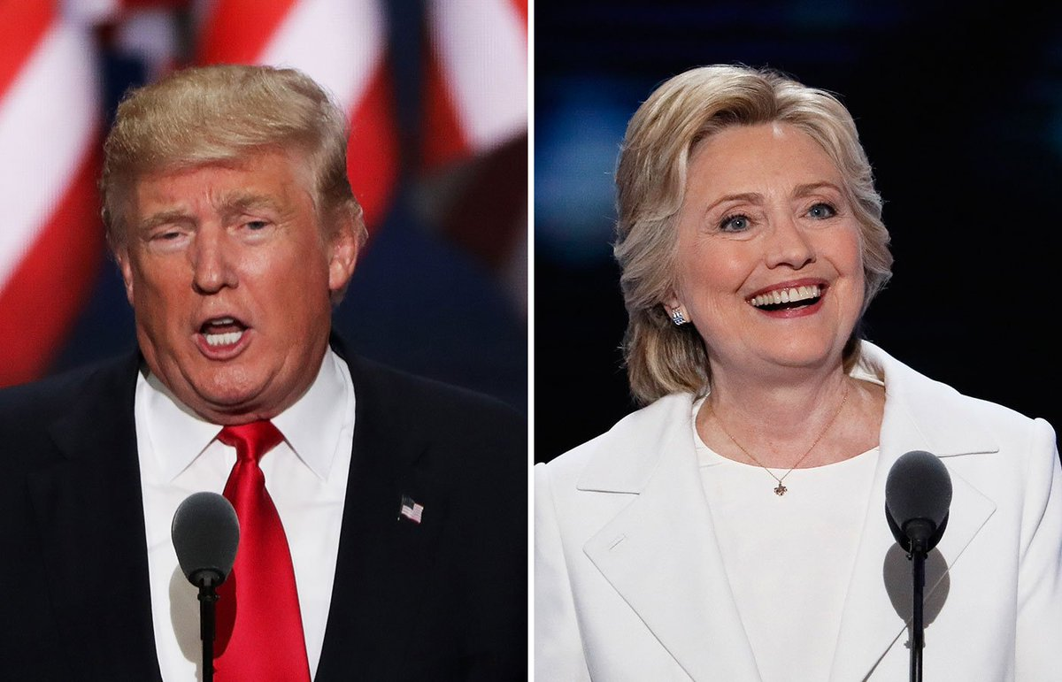 Between Trump's & Clinton's speeches, who had more comments on their vision for the country?