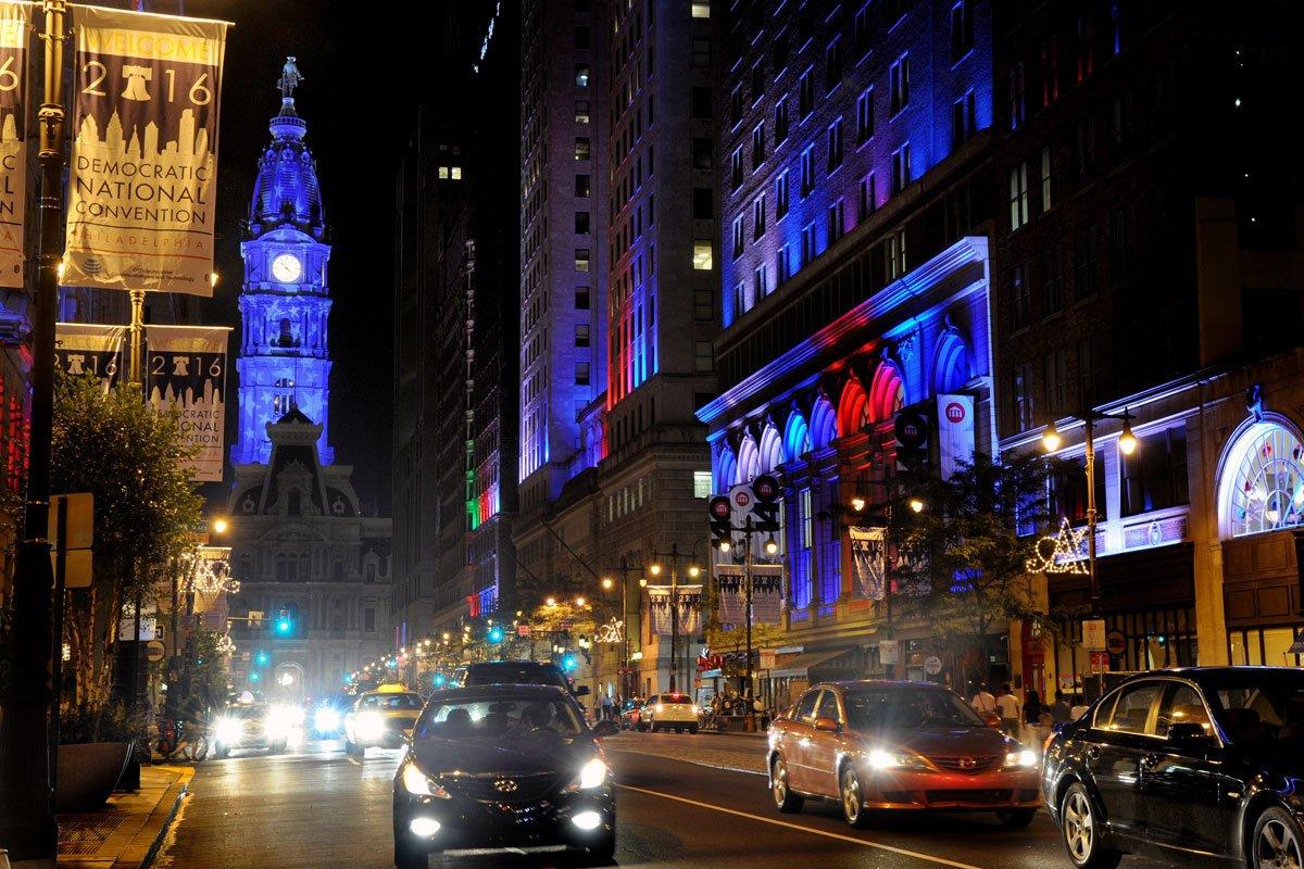 How did Philadelphia look to DNC visitors?