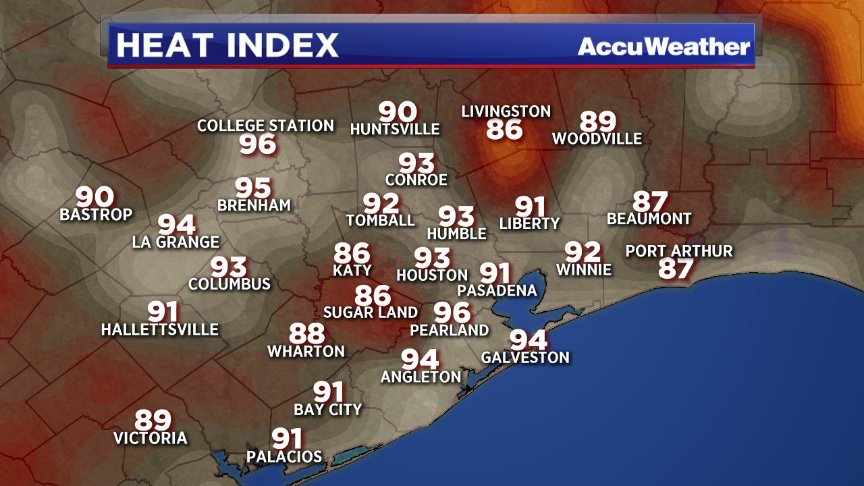 Wow! 9pm and it still feels like 93 degrees in Houston!